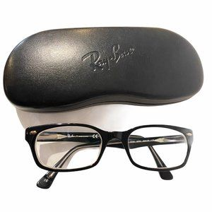 Ray-Ban RX Square Black Frame Glasses with Case
